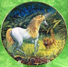 Fantasyland Unicorn Lion Danbury Mint Plate Bewitching Encounter 1993 Lion Horse