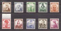 1935 Deutsches Reich Mi. 588-597 postfrisch / gestempelt - Satz / Einzelmarken