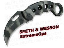 Smith & Wesson ExtemeOps Karambit Camo Folder CK32C NEW