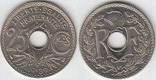 Gertbrolen 25 Centimes maillechort 1939  Superbe brillant de frappe Poids 3,82