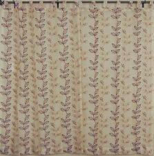 Embroidered Sheer Indian Curtains 2 Lemon Chiffon Organza Window Treatments 90in
