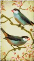 Finches on Cherry Blossom Handmade DIGITAL Counted Cross-Stitch Pattern Chart