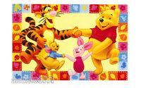 Tappeto Winnie the Pooh e Amici Tigro Pimpi Ro Girotondo Giallo 100x170cm Disney