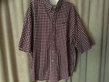 Mens XL Ivy Crew Flannel Plaid Check Short Sleeve Shirt, H37