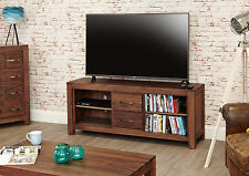 BAUMHAUS SOLID WOOD WALNUT LARGE WIDESCREEN TV VIDEO CABINET