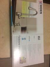 Moen Fieldstone 87808SRS Stainless Kitchen Faucet & Soap Dispenser w/Reflex New