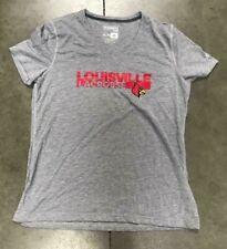Authentic Adidas Louisville Cardinals Lacrosse Gray Women's T-Shirt Size X-L
