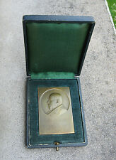 Antigua medalla placa de bronce Georges Pallain Banco de France Abel Lafleur