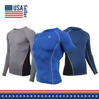 Mens COOVY Rash Guard Surf Swim Shirt Water Sports SPF Protection Tight Fit