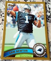 CAM NEWTON 2011 Topps #1 Draft Pick GOLD SP Rookie Card RC Logo /2011 Patriots $