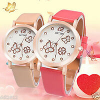 OKTIME Fashion Waterproof Women's Luminous Leather Analog Quartz Wrist Watches