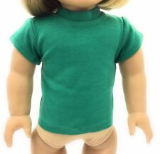 Green Knit Cap Sleeved Top Shirt made for 18 inch American Girl Doll Clothes