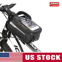 Bicycle Phone Mount Bag Cycling Front Frame Top Tube Pack Bike Tool Storage Bags