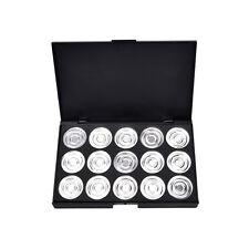15X Empty Eyeshadows Blank Panel Aluminum Palette Pans Removable Makeup Tool XH