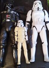 "Star Wars huge figures hard plastic Darth Vader and a Stormtrooper 18 "" Approx."
