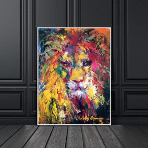 LeRoy Neiman Portrait of The Lion Home Wall Deco Art Painting Print Canvas 16x20