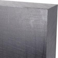 Made in Usa 36 x 12 x 1 Inch, Polyethylene (Uhmw) Plastic Sheet Black