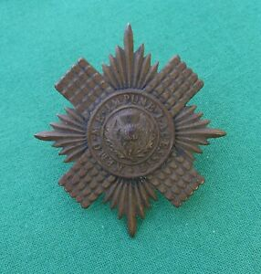 Early Scots Guards Cap Star -100% Genuine British Army Military Cap Badge..