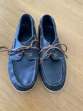 Timberland Blue Leather Boat Shoes Size 6