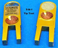 ULTI-MATE ~ Tip Tool with Spare Abrasives ~ 5 tools in 1~ Instructions Included
