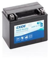 Batterie moto AGM YTX12-BS Exide AGM12-10 12V 10AH 180A 150X90X130MM