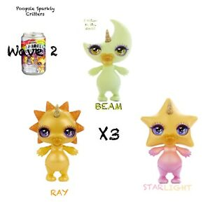 Poopsie  Sparkly Critters Drop Wave 2  Rare BEAM+RAY+STAR  Scented