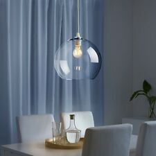 "IKEA JAKOBSBYN PENDANT LIGHT GLASS LAMP SHADE 12"" CLEAR GLOBE 903.330.52 NIB"