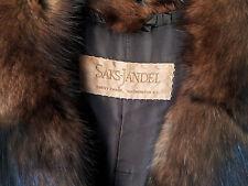 Vintage Saks-Jandel Mink with Sable Fur Collar Full Length Coat