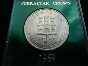 GIBRALTAR CROWN 1969 CASED COIN