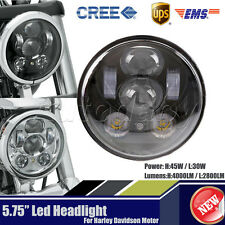 """1x 5.75"""" 5-3/4 LED Motorcycle Headlight Daymaker Black Projector DRL For Harley"""
