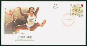 Mayfairstamps Montserrat FDC 1992 Olympic Sports Triple Jump First Day Cover wwp