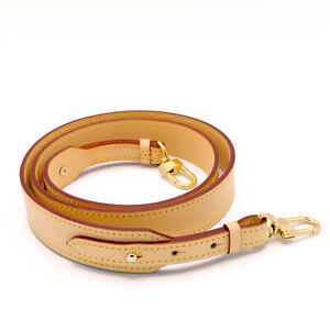 """30mm Natural Vachetta Leather Crossbody Strap Replacement For Louis Vuitton 47"""""""