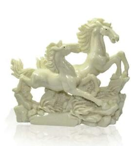 Running Horses statue Feng Shui Home Decor Sculpture Showpiece Horses Figurines