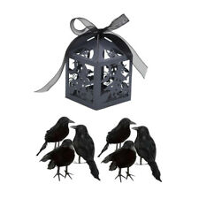 6 un. artificial realista Halloween Pájaro Negro Pluma Cuervos +50 un. Candy Box