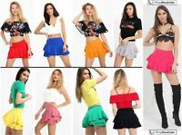 Frill SKORTS Multi Layered Hem Shorts Mini Skirt SKORT WrapOver Summer