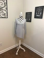 J. Jill Wearever Collection Long Sleeve V-Neck Tunic Blouse Small S
