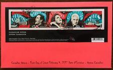 Canada limited edition FDC 2017 sc#2970 Opera souvenir sheet