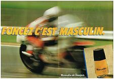 "Publicité Advertising 1980 (2 pages ) eau de Toilette 3masculin"" par Bourjois"