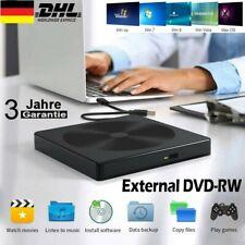 Externes DVD Laufwerk USB 3.0 Brenner Slim DVD-RW CD Brenner für PC Laptop Mac
