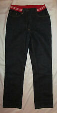 ICEBERG JEANS GILMAR dark wash sporty knit waist band straight leg jeans 28