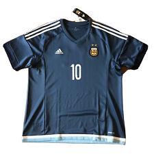2015/16 Argentina Away Jersey #10 Messi XL Adidas Soccer ALBICELESTE NEW