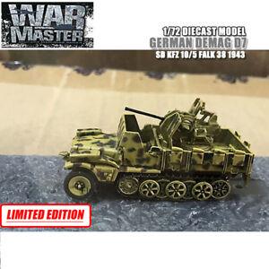 GERMAN DEMAG D7 SD KFZ 10/5 FALK 38 1943 1/72 DIECAST FINISHED TANK WAR MASTER