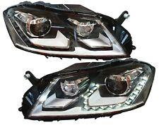 SCHEINWERFER VW PASSAT 3C B7 11-14 SCHWARZ LED STANDLICHT ORIGINAL-DESIGN DEPO