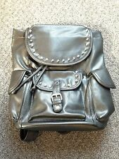 Backpack Women's Studded Flap Top Bookbag NWT Stone Mountain with Phone Charger