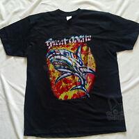 Vintage 1987 GREAT WHITE BITE BACK Concert Tour Band Thin T-Shirt 80s reprint