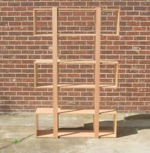Clearance Bookcases- Solid Messmate Timber and Messmate Veneer - 2 left