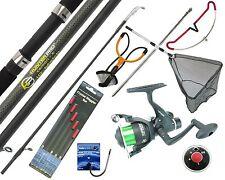 Starter Fishing Tackle Set Kit Hunter Pro Rod Reel Tackle Net Catapult Rod Rest