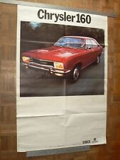 Grande Affiche Ancienne Automobile SIMCA CHRYSLER  160  (2) car poster