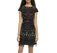 ADRIANNA PAPELL® 16 Rouge Multi Beaded Embellished Cocktail Dress NWT $279