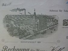 Rechnung von Neumann aus COTTBUS von 1912, Original